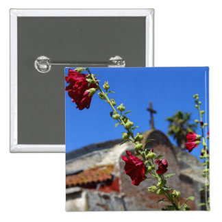 Roses at a missionary pinback button
