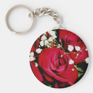 Roses & Baby Breath Keychain