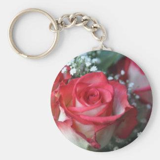 roses basic round button keychain