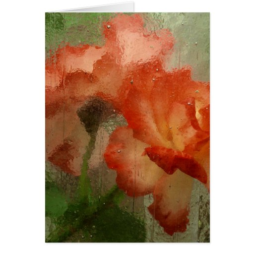 Roses Behind Glass Card