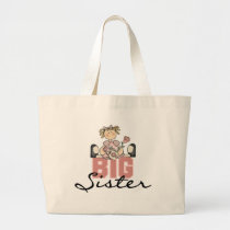 Roses Big Sister Tshirts and Gifts Large Tote Bag