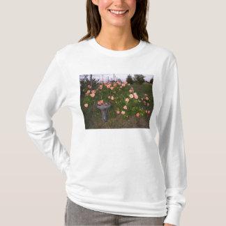 Roses & birdbath T-Shirt