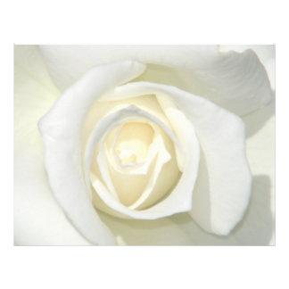 Roses_ blanco membretes personalizados