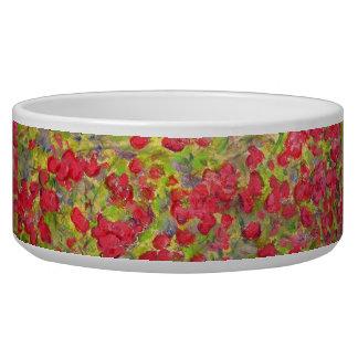 roses blooming bowl