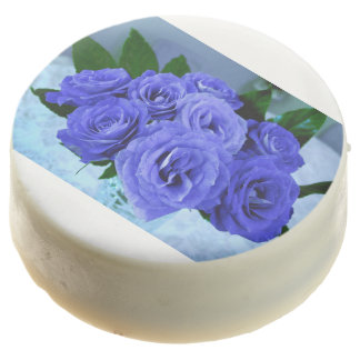 roses blue blossoms flowers party shower petals chocolate dipped oreo