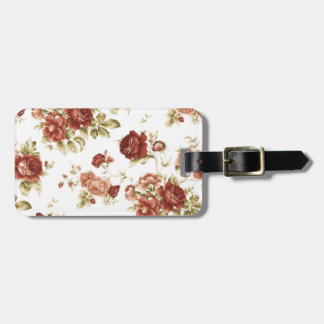 Roses bordeaux burgendy background luggage tag