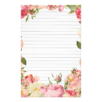 Roses Border Lined Paper