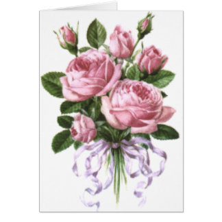 Roses bouquet card