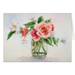 Roses bouquet greeting cards