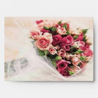 Roses Bouquet Wedding Envelope