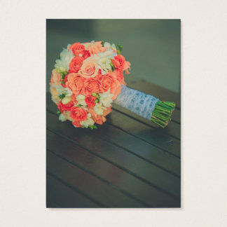 Roses bridal bouquet business card