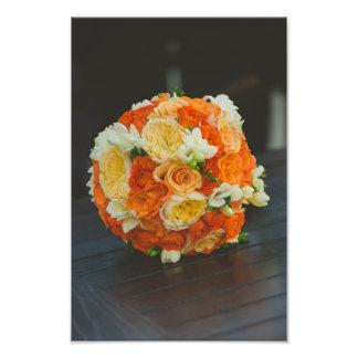 Roses bridal bouquet photo art