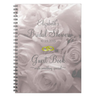 Roses-Bridal Shower Guest Book- Spiral Notebook