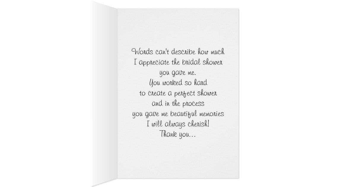 Thank You Letter For Bridal Shower Host