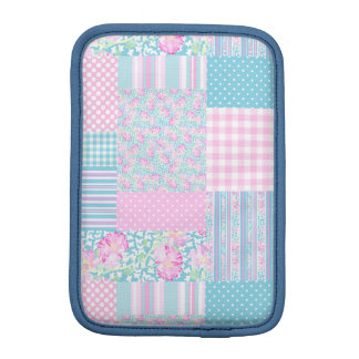 Roses, Butterflies Faux Patchwork iPad Mini Sleeve