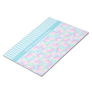 Roses, Butterflies, Gingham Notepad or Jotter