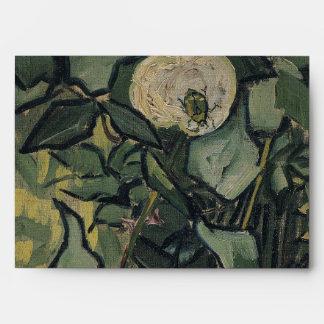 Roses by Vincent Van Gogh Envelope
