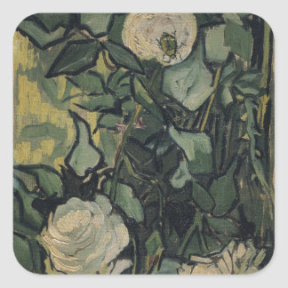 Roses by Vincent Van Gogh Square Sticker
