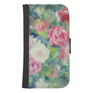 Roses, c.1885 (oil on canvas) galaxy s4 wallet case