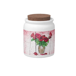 Roses Candy Jars