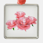 roses christmas ornaments