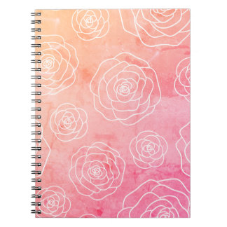 Roses Contour Notebook