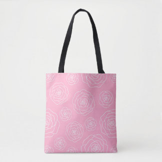 Roses Contour Tote Bag