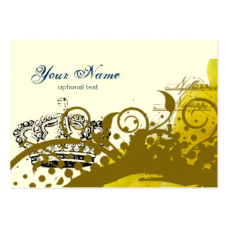 Roses, Crown, Swirls & Butterflies Business Cards