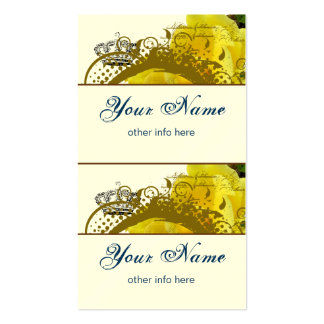 Roses, Crown, Swirls & Butterflies Mini Tags Business Card