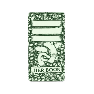 Roses Customizable Bookplate Address Label