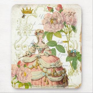 Roses de Versailles Reine Marie Antoinette Mouse Pad