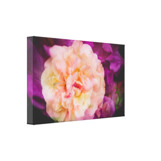 Roses (double exposure version) canvas print