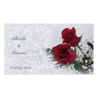 Roses Dream Thank You Wedding Favor Tag profilecard