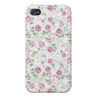 Roses Elegant Vintage Floral Pattern Flowers Retro iPhone 4/4S Cases