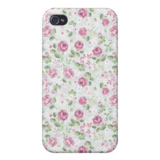 Roses Elegant Vintage Floral Pattern Flowers Retro iPhone 4/4S Covers