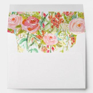Roses Envelope Liner with Return Address