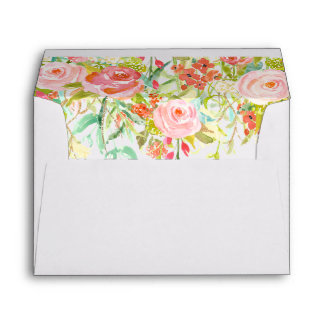 Roses Envelope Liner with Return Address