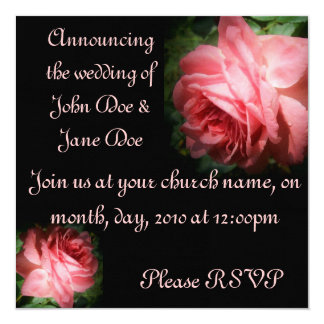 Roses featuring 1 Corinthians 13 Wedding Invite