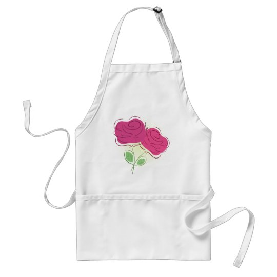 Roses Floral Decor Adult Apron