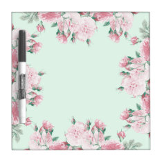 Roses Floral Dry Erase Board Shabby Chic at Zazzle