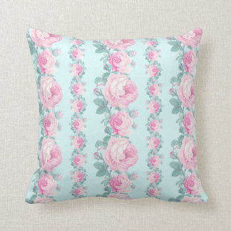 Roses floral pillow romantic cottage chic