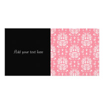 Roses Floral Style Damask Art Pattern Card