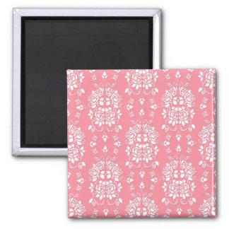 Roses Floral Style Damask Art Pattern Refrigerator Magnet
