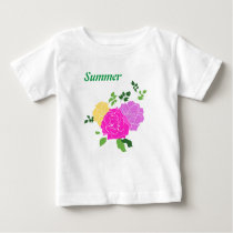 Roses flowers baby T-Shirt