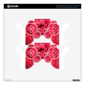 roses flowers blossoms petals water droplets decal for PS3 controller