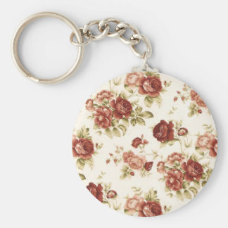 Roses flowers nature Bordeaux pink knows green Keychain
