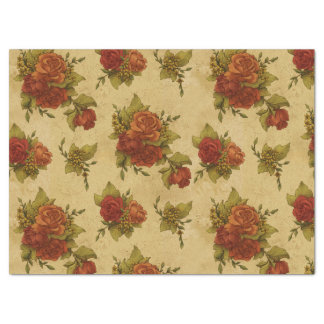 Roses, Flowers, Petals, Leaves - Red Green Tissue Paper