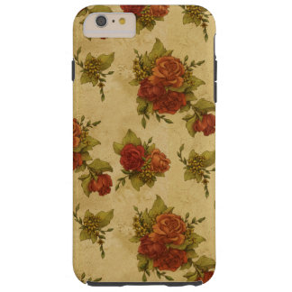 Roses, Flowers, Petals, Leaves - Red Green Tough iPhone 6 Plus Case