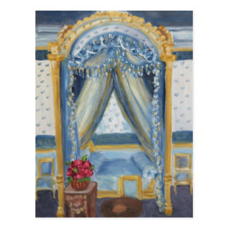 Roses for Josephine: Fontainebleau Chateau Postcard