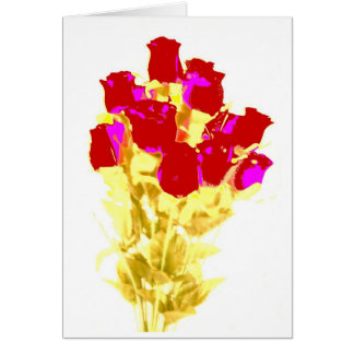 Roses for mom. greeting card